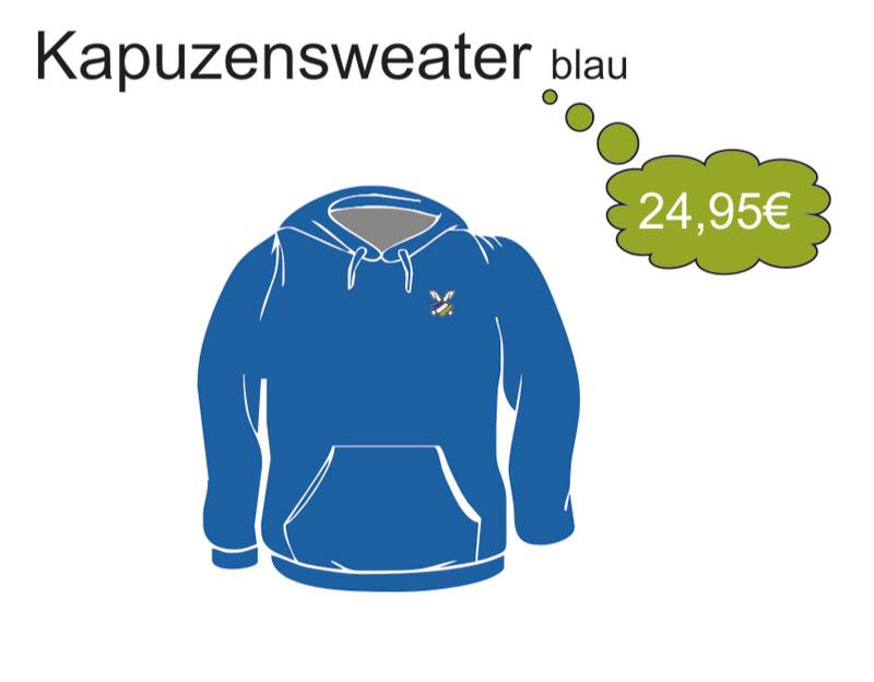 Kapuzensweatshirt-Blau
