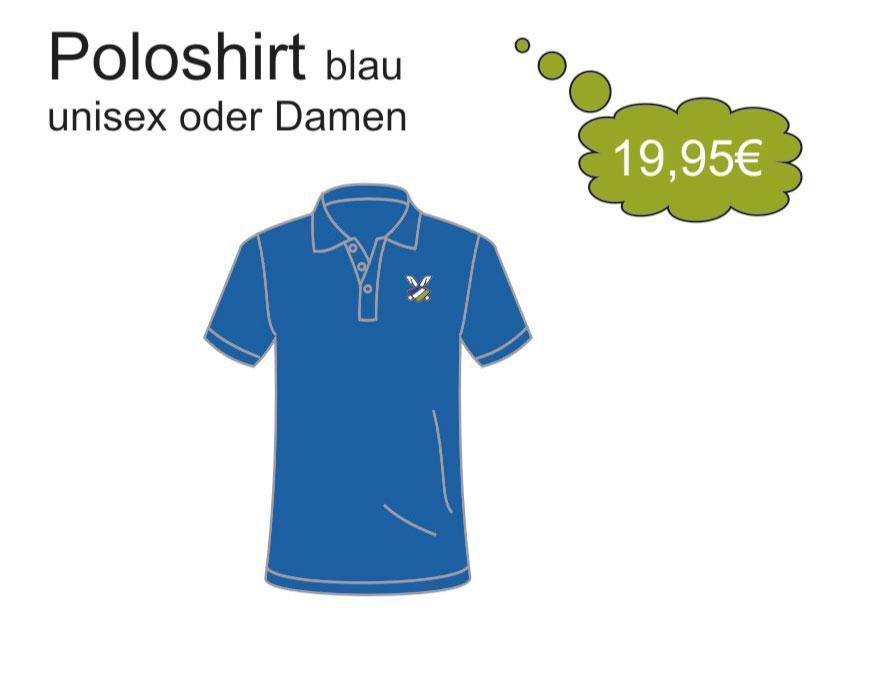 Poloshirt-Blau