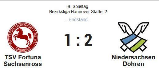 Fußball 1. Herren: Tabellenführung behauptet durch 2:1 Auswärtssieg beim TSV Fortuna Sachsenross!