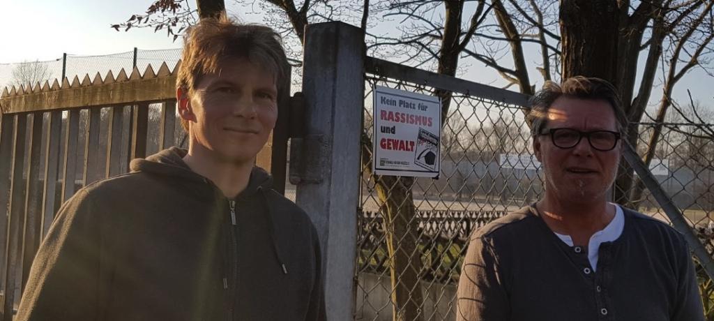 Stellvertretend für Niedersachsen Döhren treten Gunnar von Ungern-Sternberg und Oliver Menges für eine gewaltfreie Zukunft im Fußball ein!